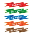 Ribbon with inscriptions Set vector image vector image