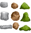 rock and stone varous shape vector image vector image