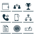 Set of 9 human resources icons includes phone