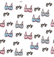 sexy seamless pattern with pink bra vector image
