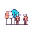 social distancing outside shop rgb color icon vector image