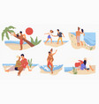 summer vacations or weekends seaside beach vector image vector image