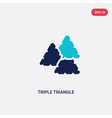 two color triple triangle icon from geometry vector image vector image