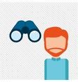 User binoculars design vector image vector image