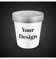 White Food Plastic Tub Bucket Container For vector image