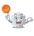 with basketball roda gear simple image on cartoon vector image