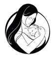 woman with a child logo a young mother vector image