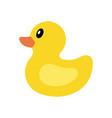 yellow duck icon vector image