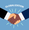 black and white shaking hands vector image