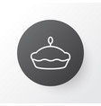 tart icon symbol premium quality isolated flan vector image