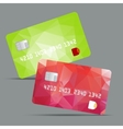 Blue credit card highly vector image