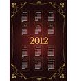 2012 calendar vector image vector image