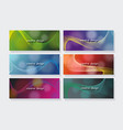 abstract waves background from different colors vector image