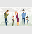air pollution - cartoon people characters vector image