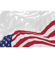 american flag in a triangular style vector image vector image