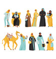 arabs icon set vector image vector image