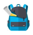 Backpack Schoolbag Icon with Notebook Ruler vector image vector image
