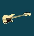 bass guitar logo vector image vector image