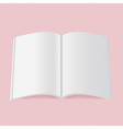 Blank catalog magazine book template with soft vector image