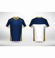 blue white and yellow layout e-sport t-shirt vector image vector image