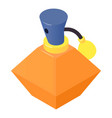 bottle perfume icon isometric 3d style vector image vector image