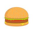 burger sandwich food icon burger vector image vector image