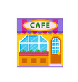 cafe front view flat icon vector image vector image