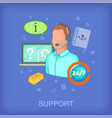call center concept man cartoon style vector image vector image