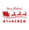 cartoon christmas silhouette for ad poster vector image