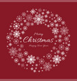 christmas decoration with garland snowflake vector image