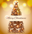 Christmas hand drawn fur tree for xmas design With vector image vector image