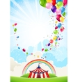 Circus festive background vector image vector image