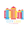 city logo original design modern design of real vector image vector image