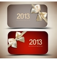 Collection of gift cards with ribbons 2013 vector image vector image