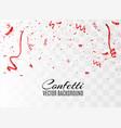 colorful bright confetti vector image vector image