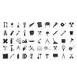 construction tools icon set simple style vector image