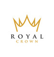 crown royal graphic design template vector image vector image