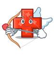 cupid cross character cartoon style vector image