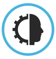 Cyborg Gear Flat Rounded Icon vector image