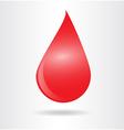 Drop blood vector image