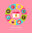 easter sunday concept vector image vector image