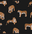 exotic tiger animal seamless pattern vector image vector image