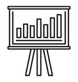finance graph chart banner icon outline style vector image vector image