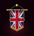flag of united kingdom festive vertical banner vector image