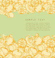 Fruit template vector image