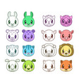funny animal faces vector image vector image