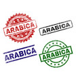 grunge textured arabica seal stamps