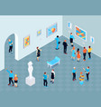 guide excursion isometric composition vector image vector image