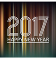 happy new year 2017 on dark color night lines vector image vector image