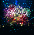 happy new year with firework vector image vector image